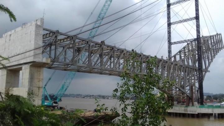 Jembatan Mahakam IV; Sisi Kota Sudah Tersambung