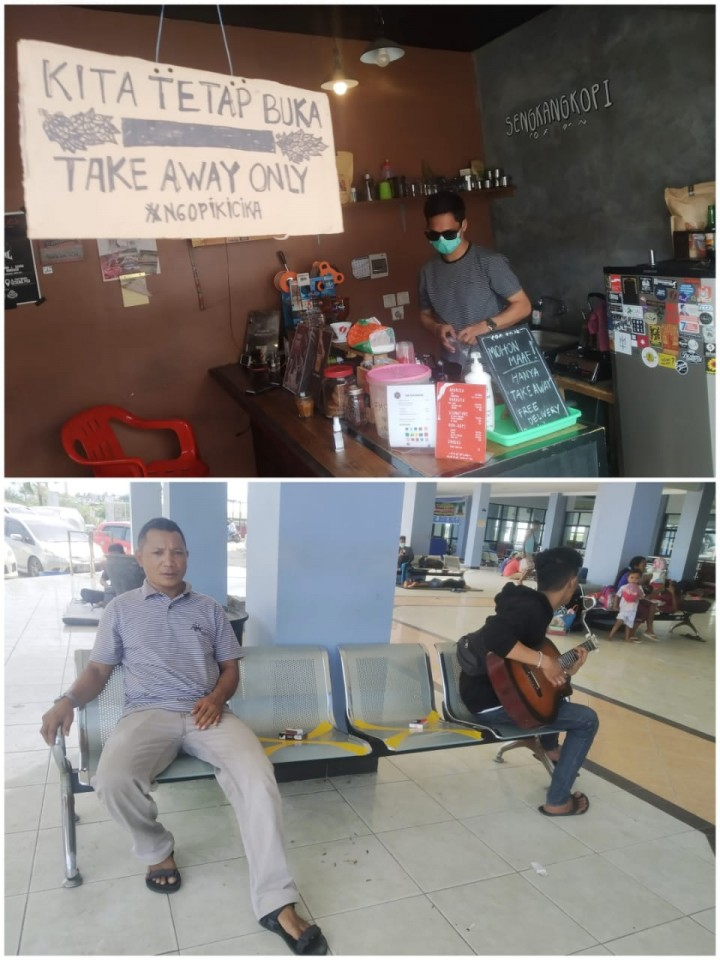 Bontang Lawan Corona, Sejumlah Kafe yang jadi Tempat Nongkrong Hanya Terima Take Away