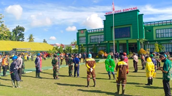 Sigap Tangani Covid-19, TNI-POLRI dan Pemkot Lakukan Penyemprotan Desinfektan