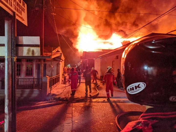 Korban Kebakaran Kampung Jawa Meninggal Akibat Infeksi Luka Bakar