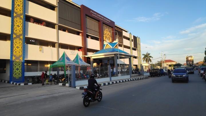Sepekan Setelah Dibuka, Lapak Pedagang di Pasar Rawa Indah Banyak Kosong