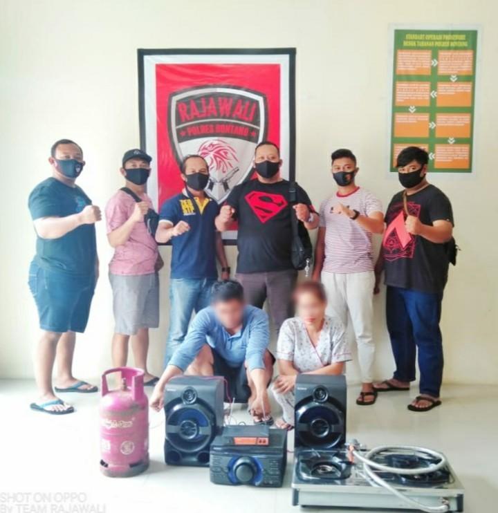 Sempat Buron, Pasutri yang Nekat Garong Kedai Kopi Didekat Polres Bontang Ditangkap
