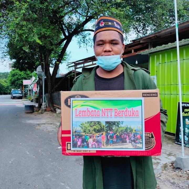 Warga Bontang Galang Dana untuk Korban Erupsi Gunung Ile Lewotolok di NTT