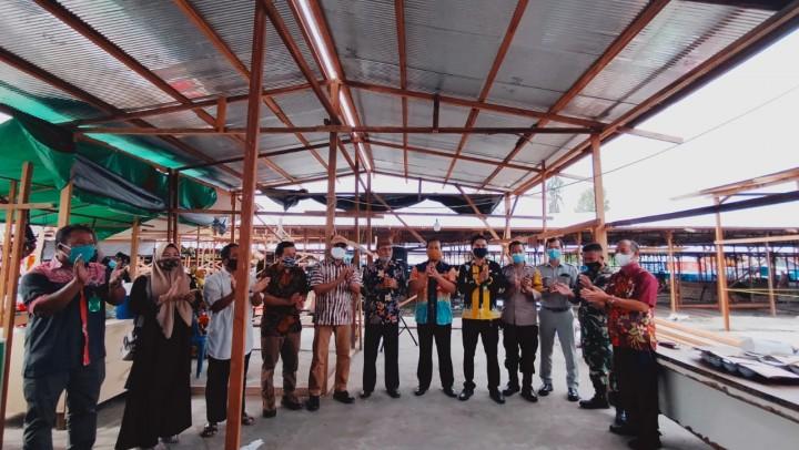 Telan Dana Rp 300 Juta, Pasar Sementara Citra Mas Mulai Ditempati Pedagang
