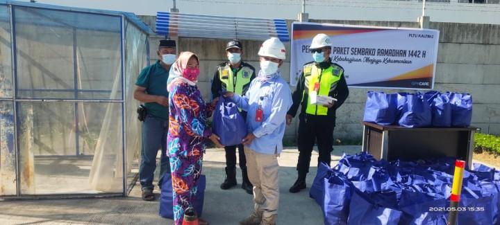 PT GPK Salurkan 197 Paket Sembako ke 3 RT di Bontang Lestari