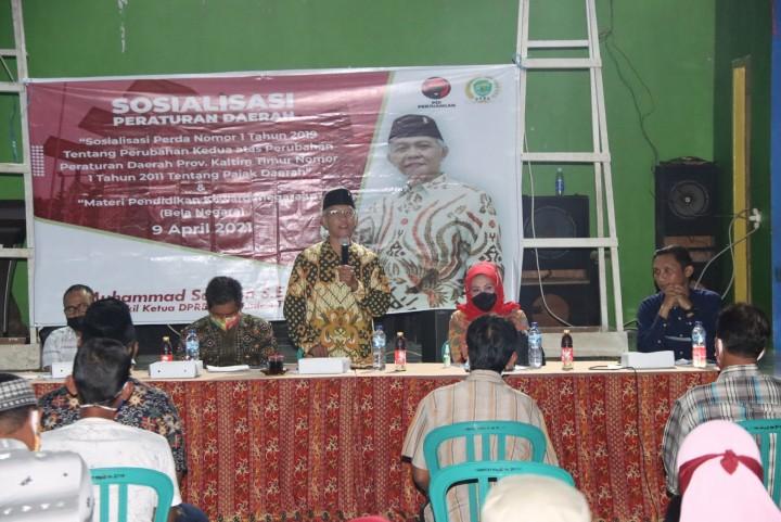 Dewan Kaltim Dapil Kukar Sosialisasikan Pajak Daerah ke Konstituen