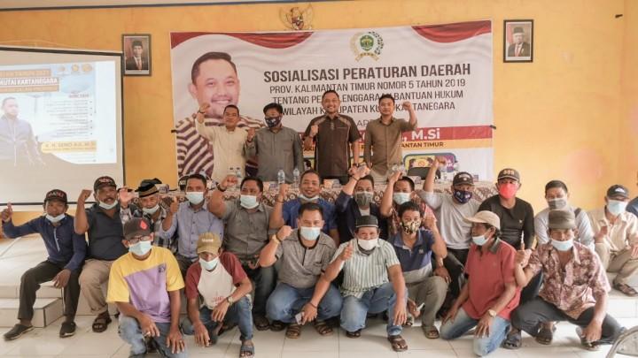 Seno Aji Sosialisasikan Bantuan Hukum Gratis ke Warga Marangkayu