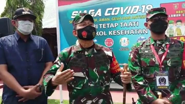 Danrem Cahyo Intruksikan Petugas Harus Ramah Selama Amankan PPKM Darurat