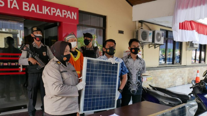 Pemuda di Balikpapan Gondol Puluhan Panel Surya Lampu Jalan, Pemkot Rugi Rp 50 Juta